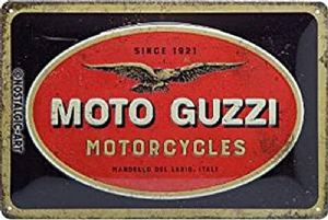 Moto Guzzi Motorcycles Logo  embossed metal sign  300mm x 200mm  (na)